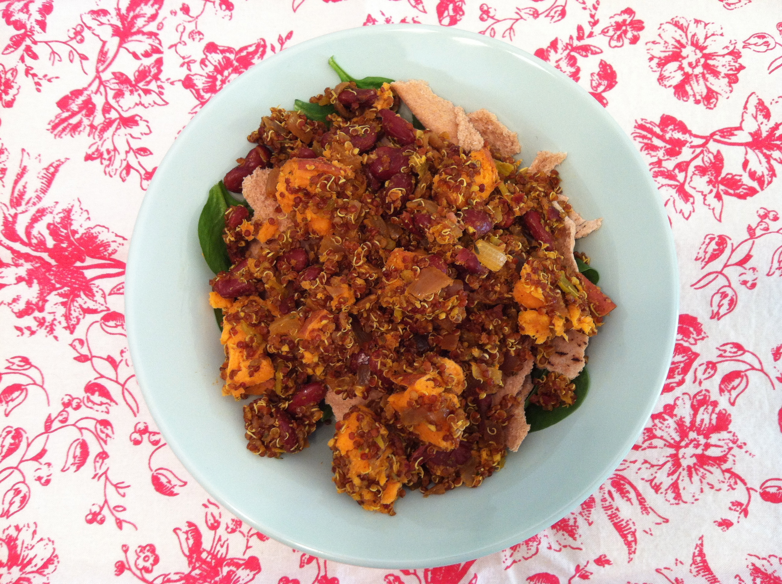 Ruby Red Quinoa and Sweet Potato Salad with Chile and Lime – just ...