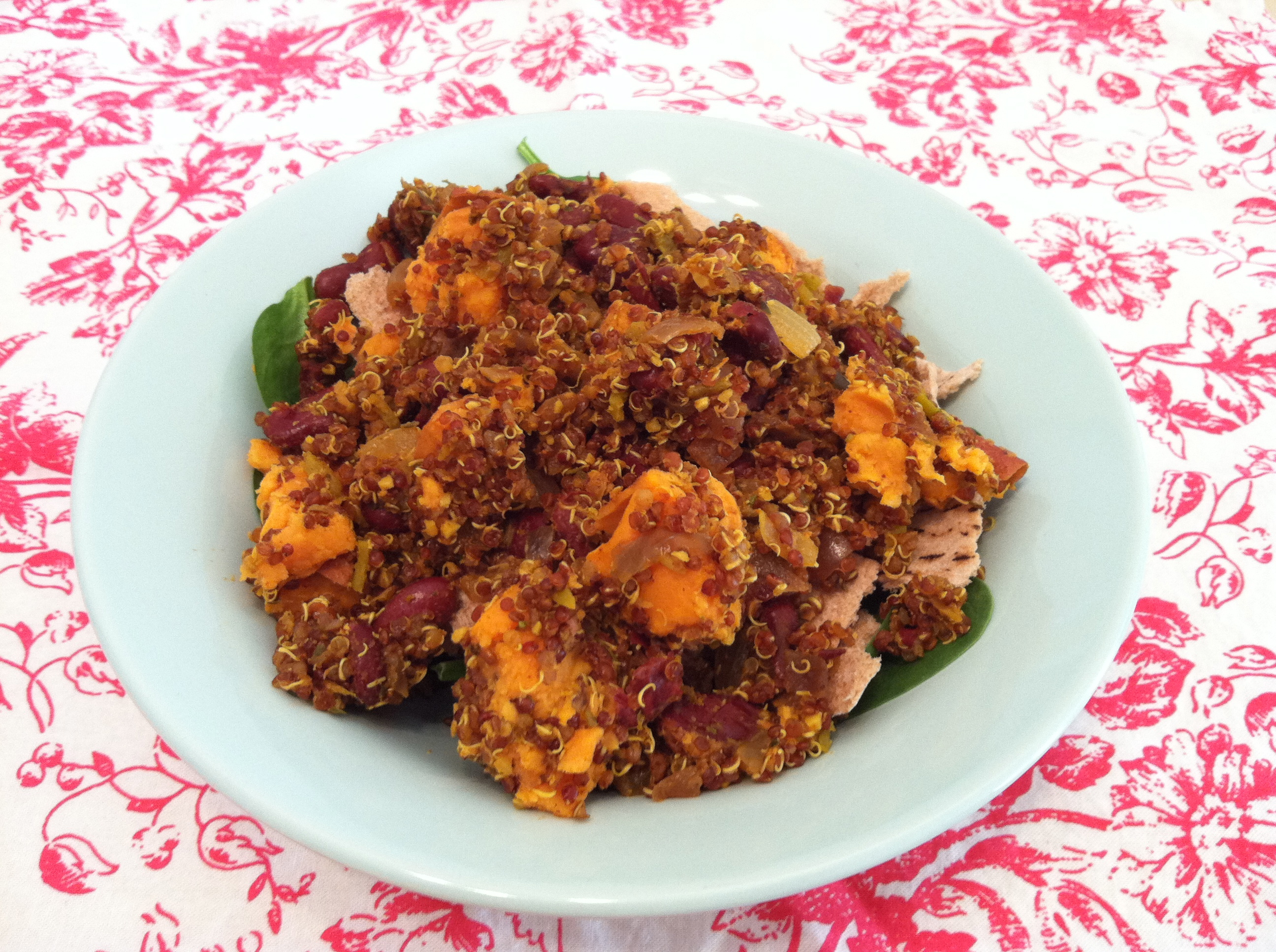 Ruby Red Quinoa and Sweet Potato Salad with Chile and Lime | just ...